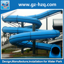 Theme park equipment water slide manufacturer ,giant tube slide for sale