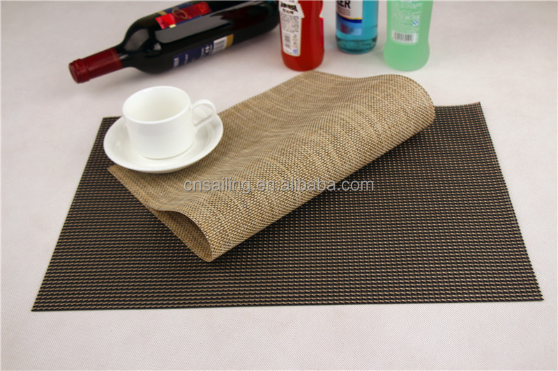 Stock Promotion 45*30cm Rectangle PVC Placemats For Round Tables Multiclor Choice