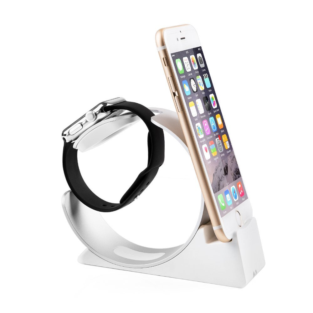 iPhone Stand, Apple Watch Holder : Desktop Charging Dock Cradle for iPhone and iWatch Egrace