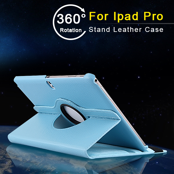 360 Degree Rotating Stand Leather Protective Cover Case for iPad Pro 12.9