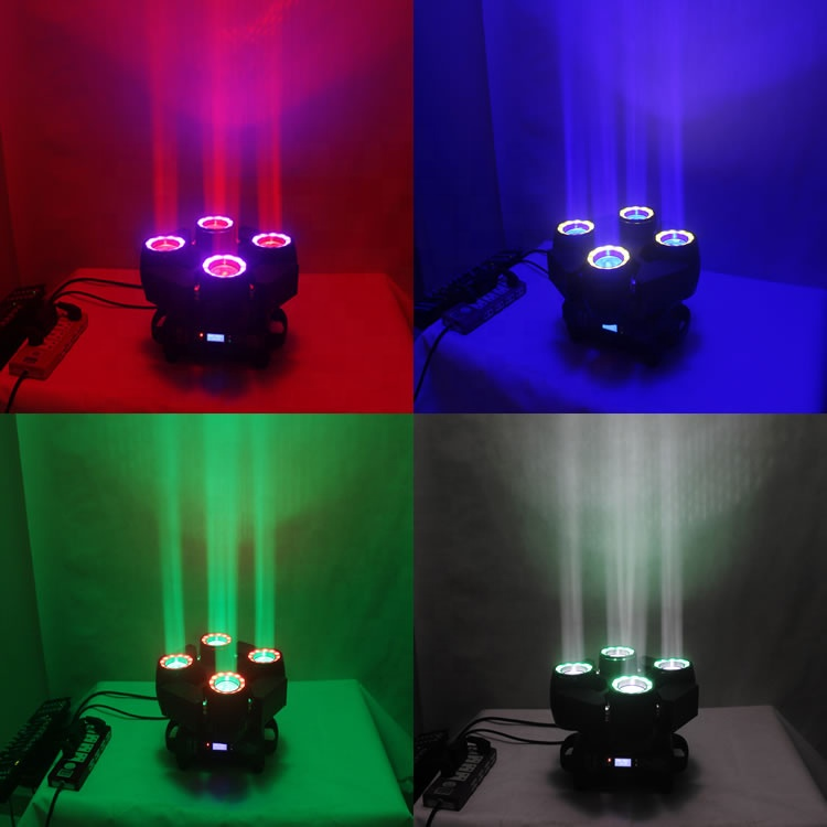 New 2019 4 Head 4in1 RGBW Sweeper Beam Stage Effect Moving Head light Led