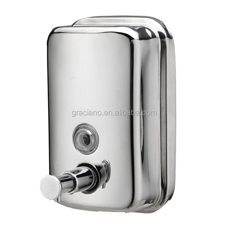 JN9302 800ml chrome wall mounted stainless steel soap dispenser
