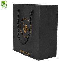 Simple but looks luxury Logo Printed retail paper shopping bag gift bag for packaging