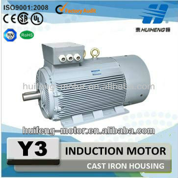 Y3 Series Cast Iron Housing Three Phase Induction Motor