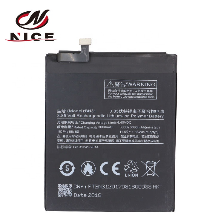 BN31 Good quality Factory Mobile Phone Battery For XiaoMi Mi 5X Mi5X Redmi note 5A 5A фото