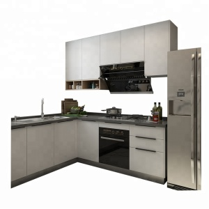New style wooden kitchen furniture design MDF modern white lacquer/paint kitchen cabinet