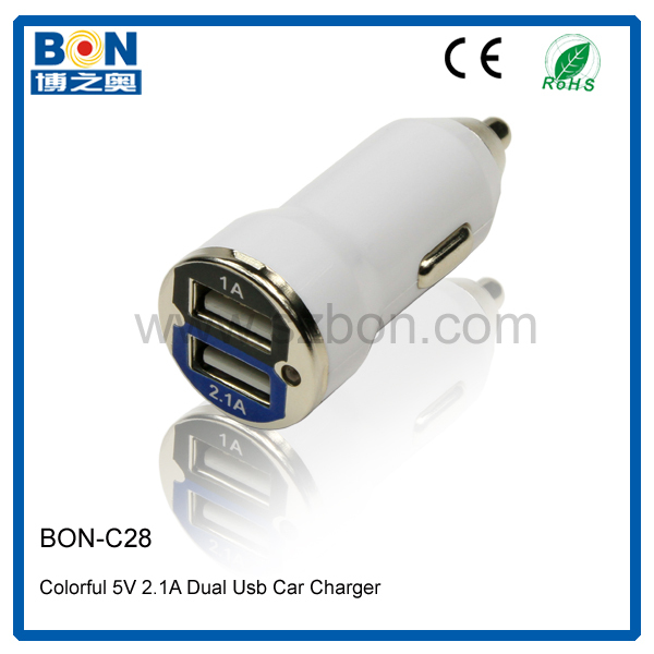 Nigeria Cheap Customized Trendy 2.1A Portable USB Car Charger