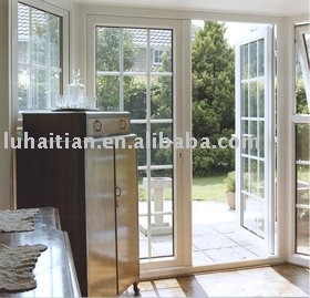 Pvc puerta del patio exterior puertas identificaci n del for Puertas de pvc para exterior precios