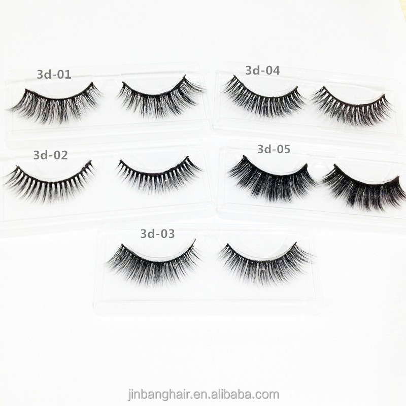 3 pairs 3d mink lashes wholesale false eyelashes real fur mink eyealshes makeup and custom eyelash box