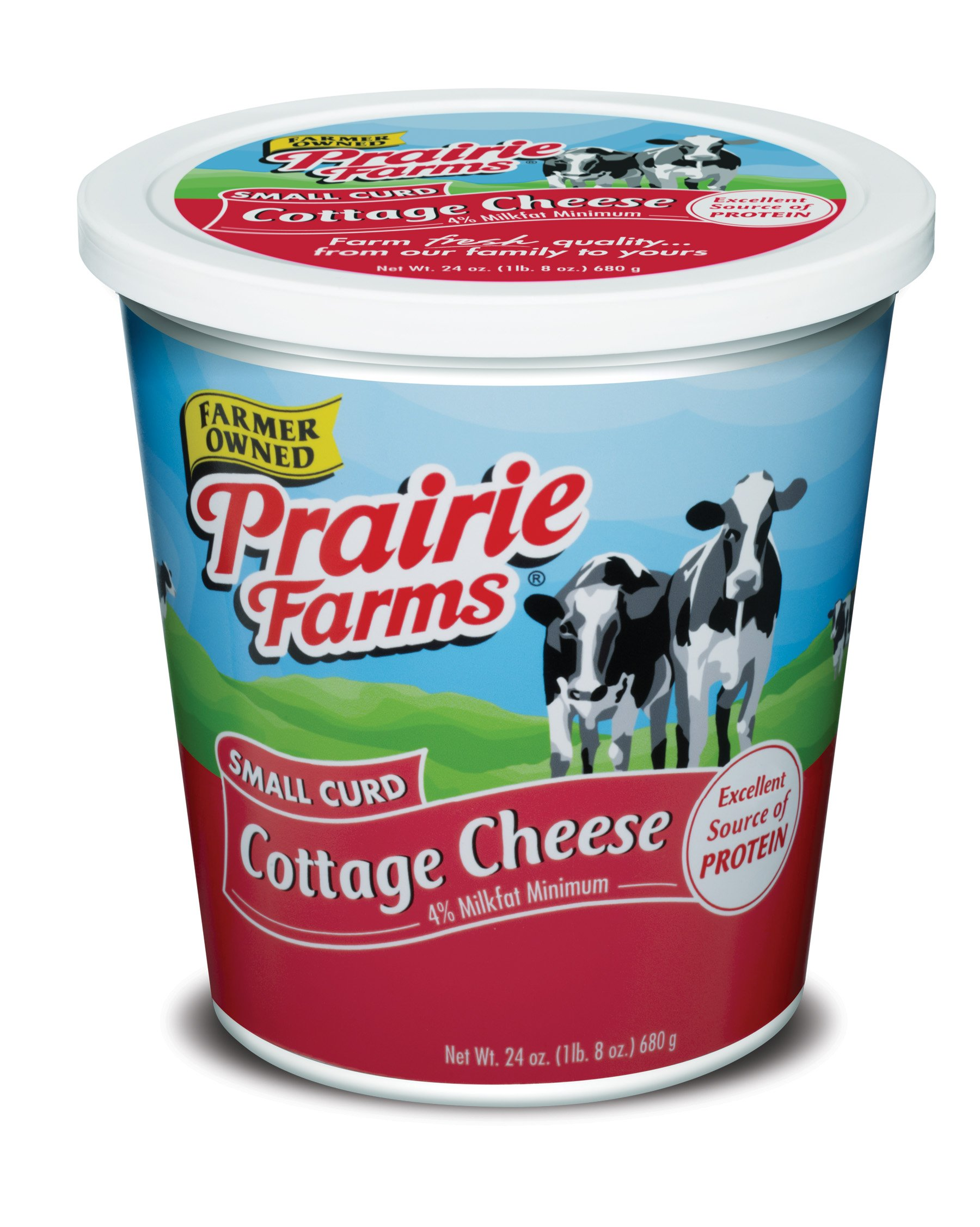 Prairie Farms Dairy Cottage Cheese Small Curd, 24 oz