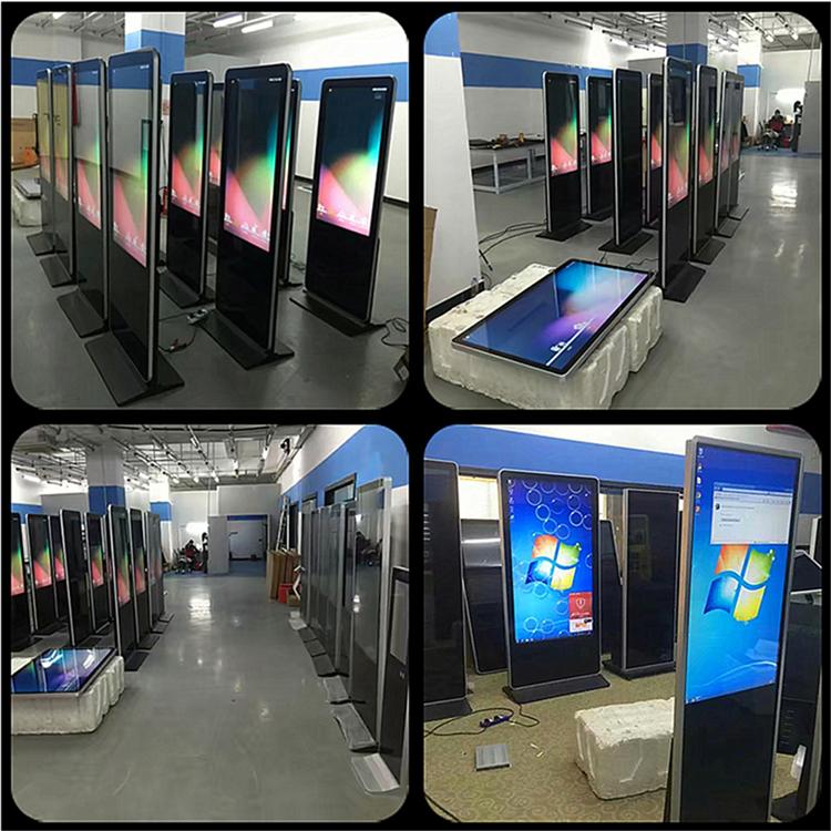 Super slim floor stand 43 inch AD Speler met lange levensduur LED digital signage Ultradunne Reclame LCD Display reclame