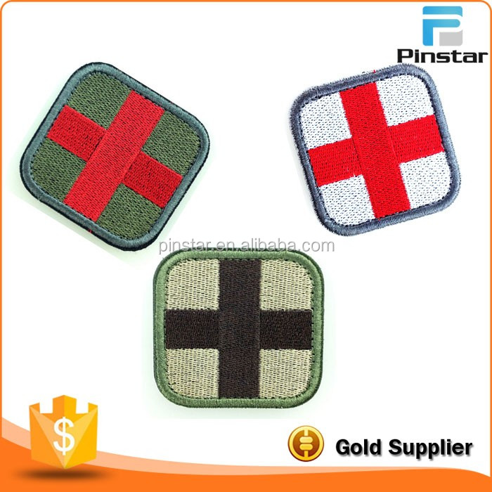 Rubber Garment Label Custom Medical Tactial Moral Red Cross 3D PVC Patch