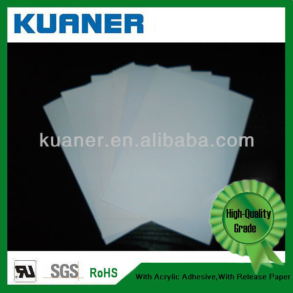 ROHS self adhesive labels film PET for Zerba Printer