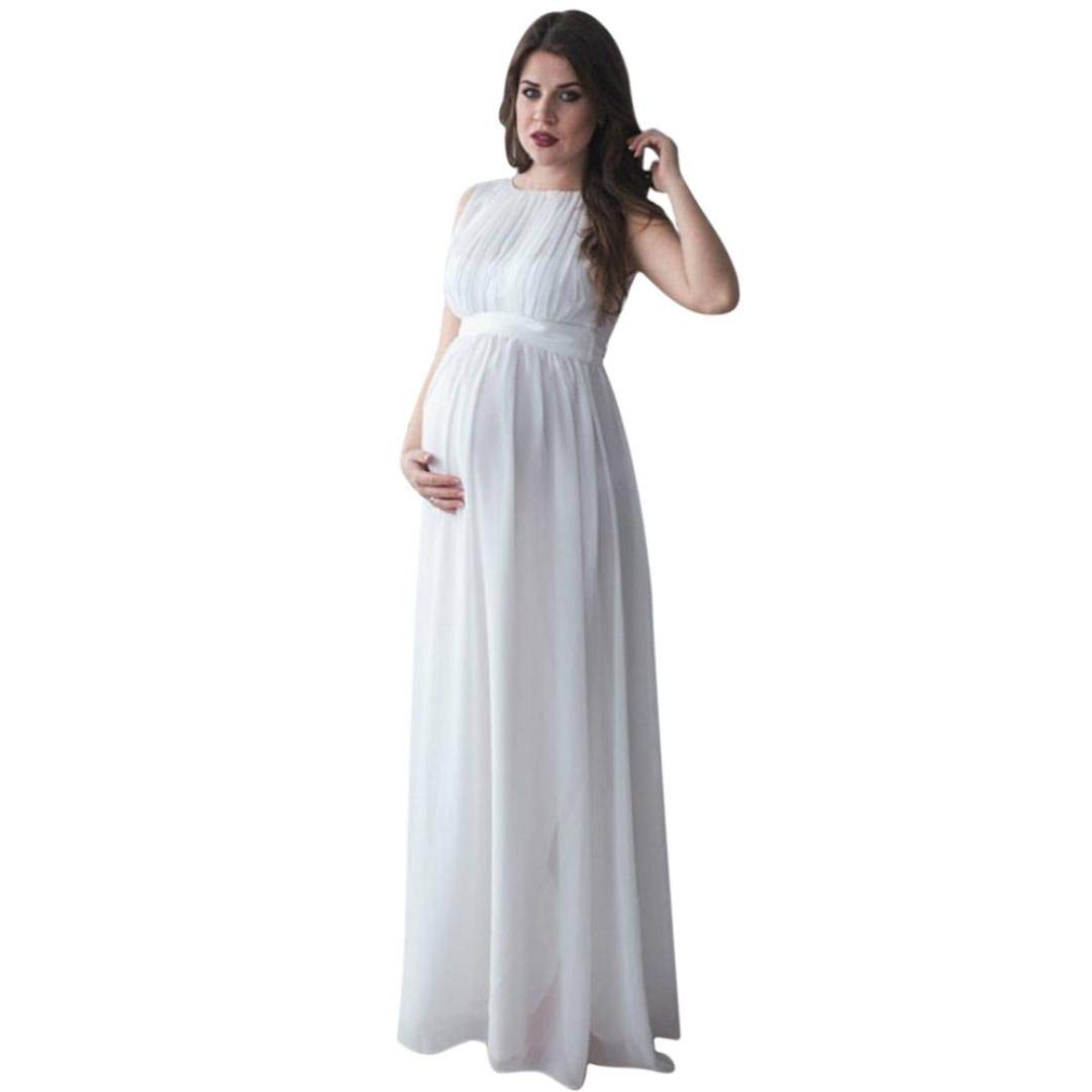 7bb8983b2ab Get Quotations · Women Pregnant Maxi Dress