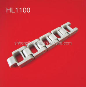 HL1100 Customized engineering convey chains injection molded delrin acetal pom plastic chain