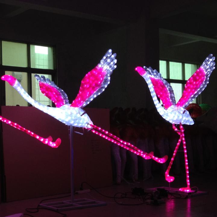Home decor 640 leds acrylic flamingo decoration buy for Decoration 640