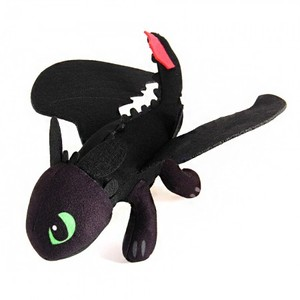 LEYI How To Train Your Dragon Night Fury Toothless 23cm Soft Plush Stuffed Doll Toy