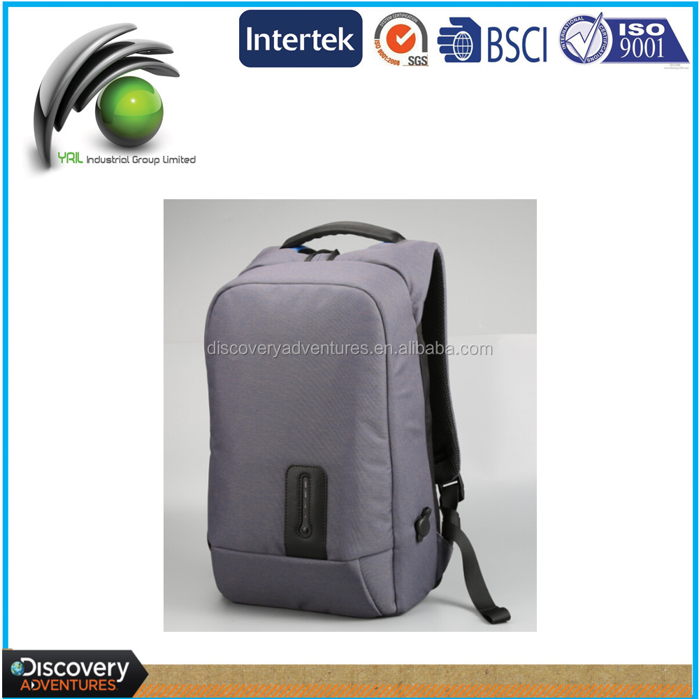 Modern Multi-Functional backpack power bank outdoor laptop backpack nylon rechargeable backpack with detachable battery