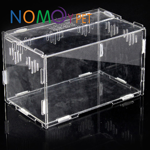 Nomo factory wholesale premium clear acrylic reptile hamster cages