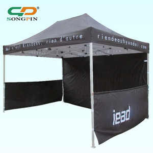 Shining color outdoor 3x4.5m side walls folding gazebo canopy tent