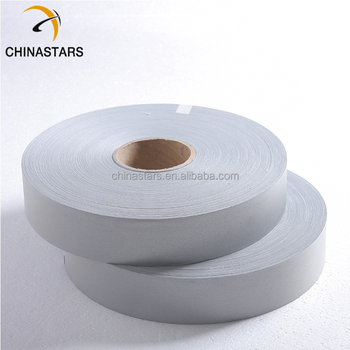 c364879e766a75 wholesale TC silver reflective tapes reflective metallic fabricMOQ  5000  Meters 0.05 -  0.40  Meter