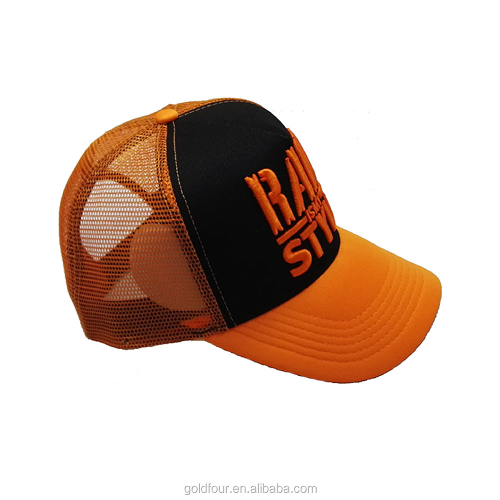 Custom 3D Embroidery Truck Hats Caps Foam Mesh Trucker Cap with High Quality