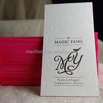 Haute Qualit Matte Dorure Bordure Colore Typographie Coton Papier Carte De Visite