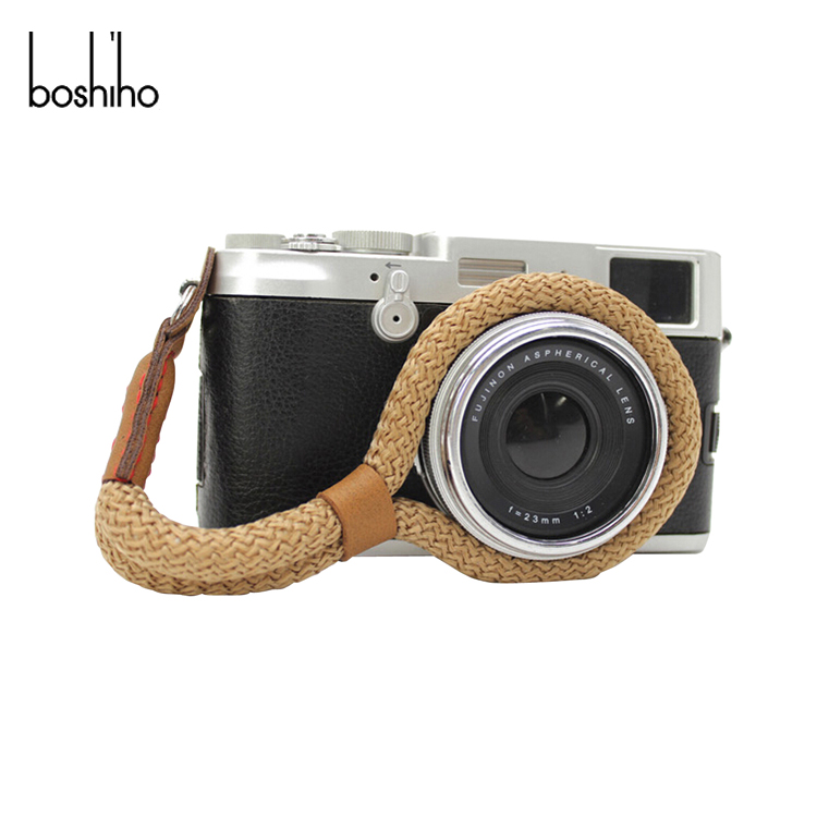 Boshiho Carry Shoulder Belt Straps Camera Hand Grip Wrist Strap Leather Camera Strap