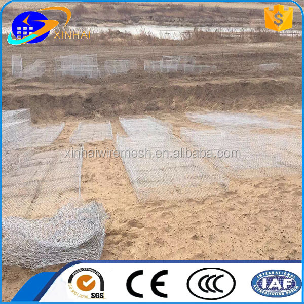 pvc coated or galvanized rock basket and gabion retaining wall factory