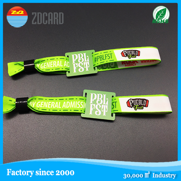 promotional rfid elastic fabric bracelet for Events Concerts and Sports