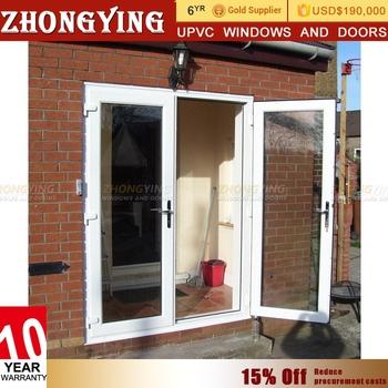 Double Leaf Shop Front Unbreakable Exterior Fire Rated Glass Door
