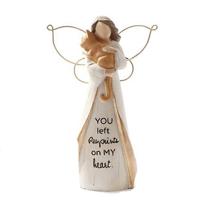 Memorial Collection Pet Sentiment Angel with Cat Figurine Statue
