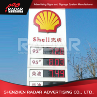 Gas stations names broad service station sign board metal digital free standing price screen gas station pylon sign