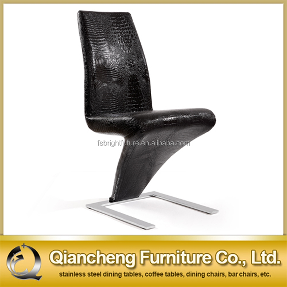 Leather Z Shape Dining Chair White Product On Alibaba