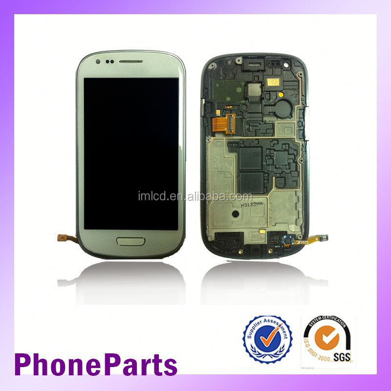 Factory price s3 mini lcd assembly for samsung i8190 lcd with touch screen frame accept paypal on Alibaba
