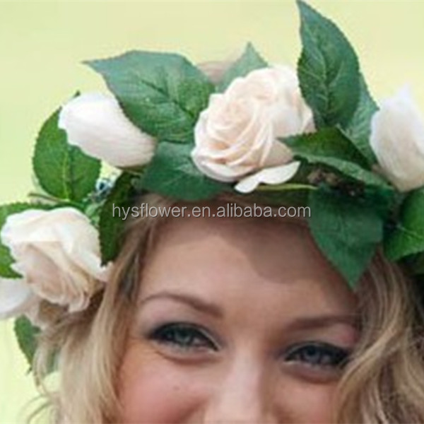wedding flower real touch white mini rose for hair,corsage/hair flower