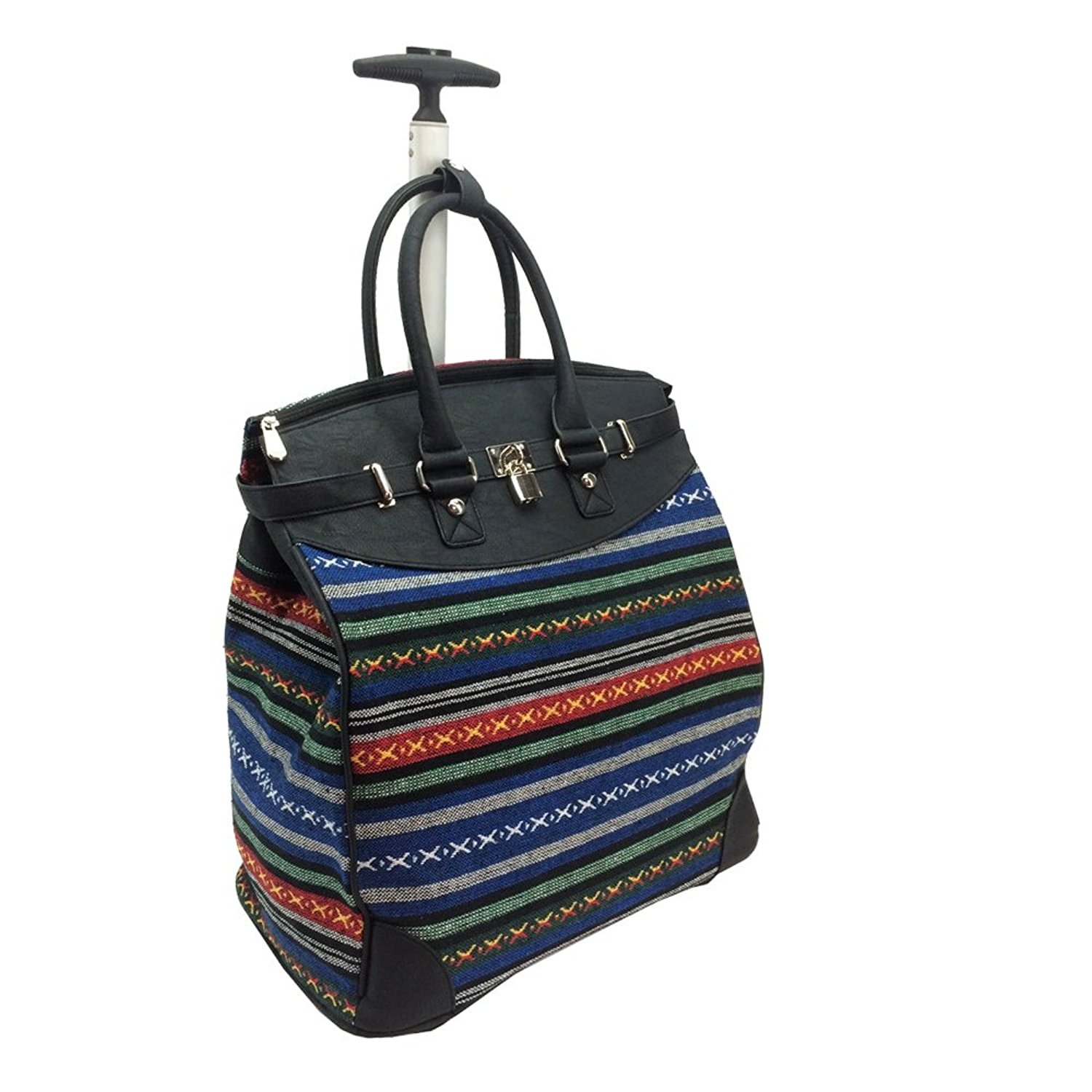 15c9ee84a7f5 Get Quotations · Rollies USA Rollies Aztec Rolling 14-inch Laptop Travel  Tote