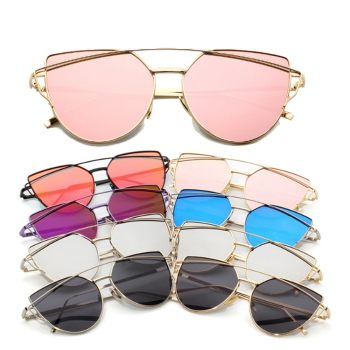 Fashion designer sun glasses Oversized Cat eye women shade Sunglasses 2019