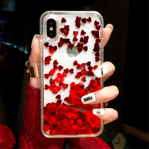 Hot-selling Mobile Phone Accessories Liquid Glitter Case for Sony XZ2/XZ3