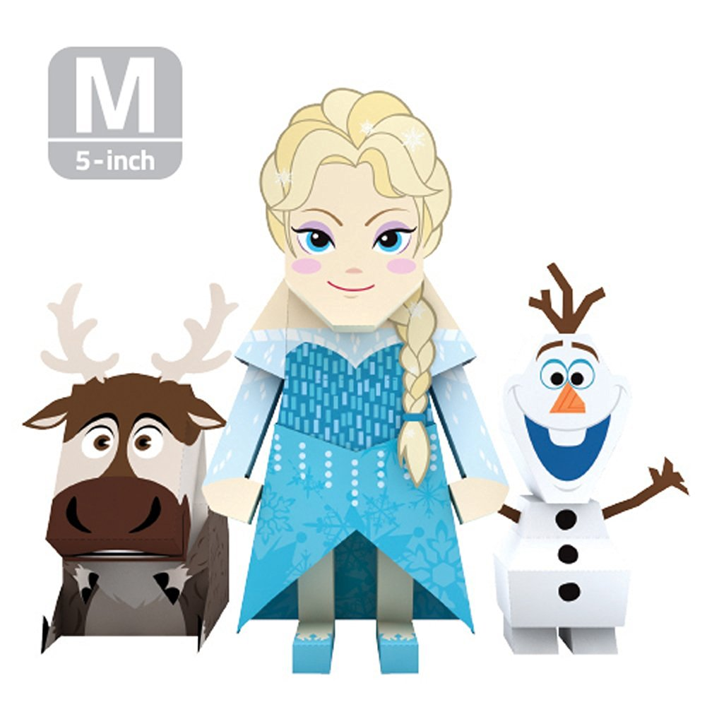 MOMOT Paper Craft Toy - Disney ELSA 5-inch (M Size 13cm)