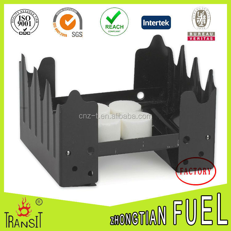 outdoor camping stove and 8 pieces solid fuel set