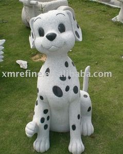 outdoor animal stone fu dog carving statue