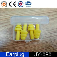 Water-proof Washable Silicone Gel Earplugs in Case