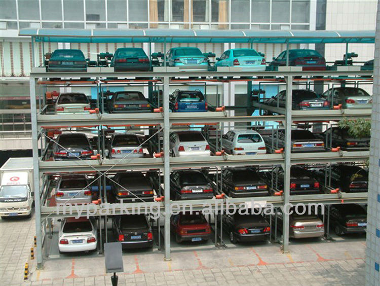 2 6 Floors Car Elevator Parking Systems Automatic Car Lift Parking