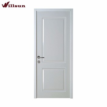 Simple Modern Design White Lacquer Solid Wood 2 Panel Internal