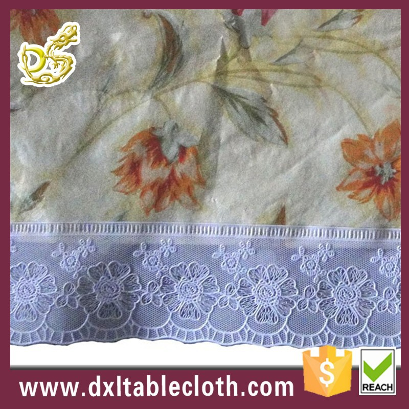 wholesale printed plastic vinyl lace wedding table cloth
