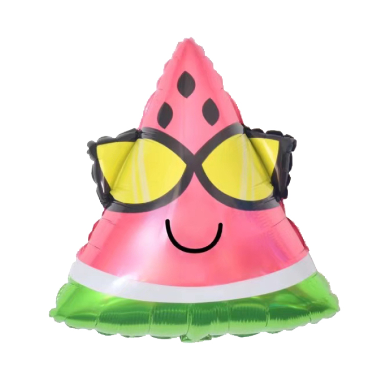 Party Decoration Watermelon Shape Cartoon Fruit Foil Balloon <strong>Gift</strong> For Kids
