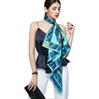 Factory Manufacturing 100 Pure Silk Twill Satin Women Square Custom Digital Printed Silk Scarves