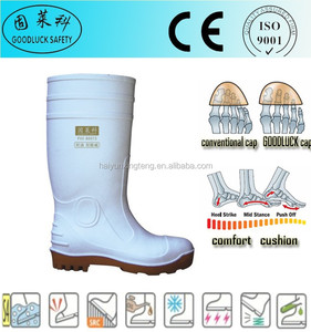 Abrasion Resistant White Cheap Price Food Industry PVC Boots