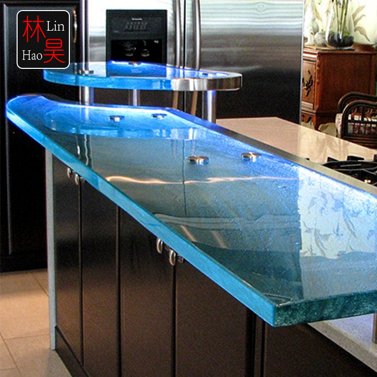 KTV lounge banquet 1 inch fused glass counter top